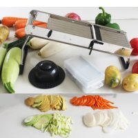 ALFA MAND01 Stainless Mandoline Slicer with 5 blades