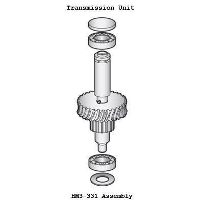Gear Shaft Assembly Worm Gear Shaft Bearing