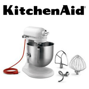 KitchenAid® KSM8990WH NSF Approved Commercial 8 Quart Mixer