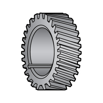 Nylon Gear (Heavy Duty - Gray) for Globe Slicers