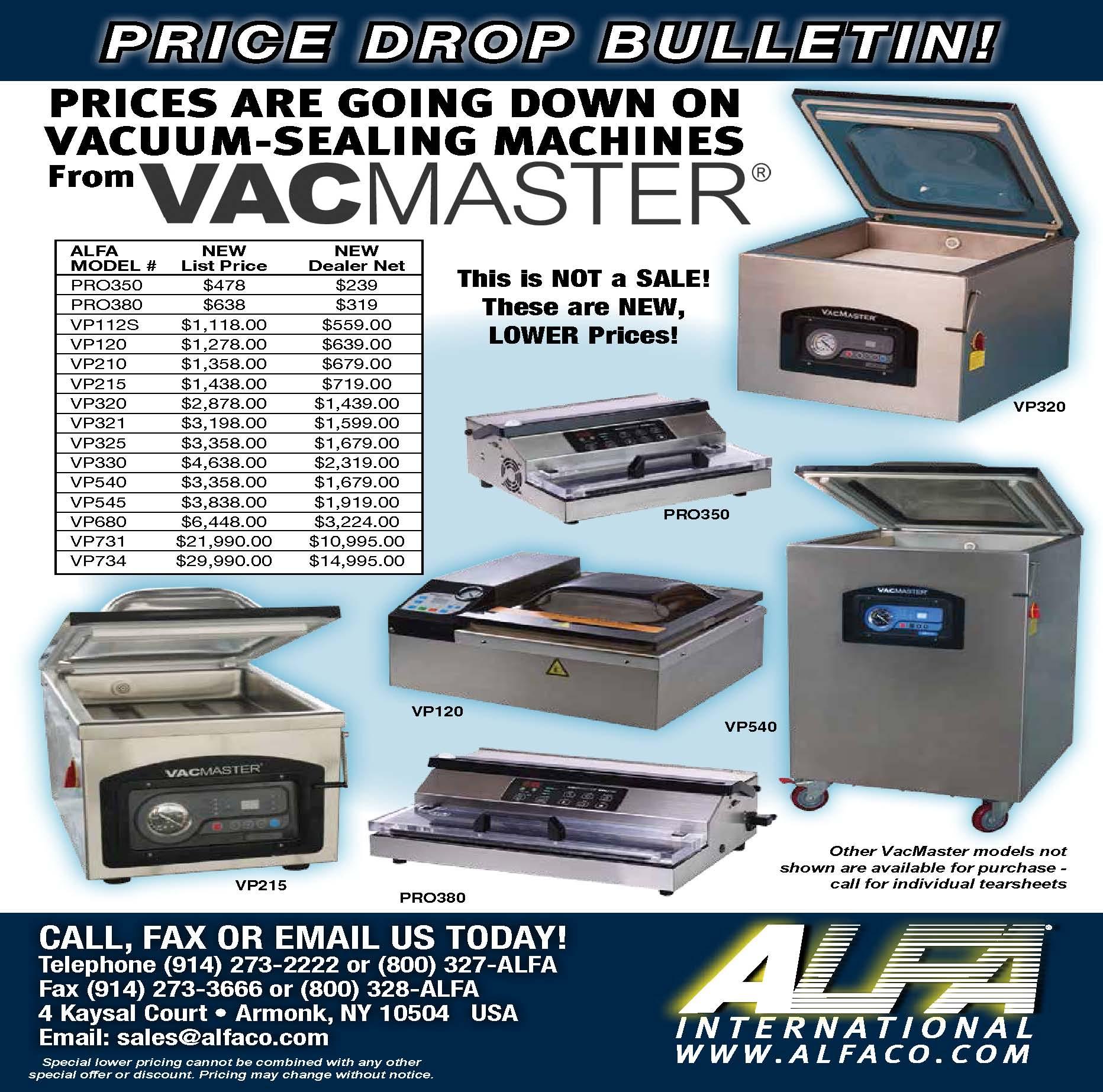 VacMaster Vacuum Packaging Machines