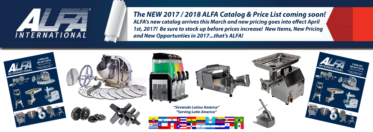 New ALFA Catalog & Price List Announcement