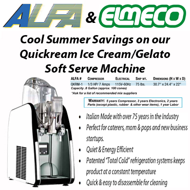 Elmeco Quickream Ice Cream Machine