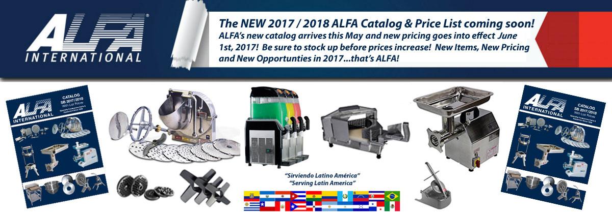 NEW 2017 ALFA Catalog