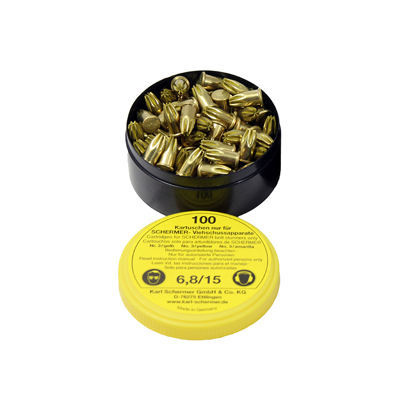 Schermer C-5 Yellow Medium Load Stunner 100 Cartridges