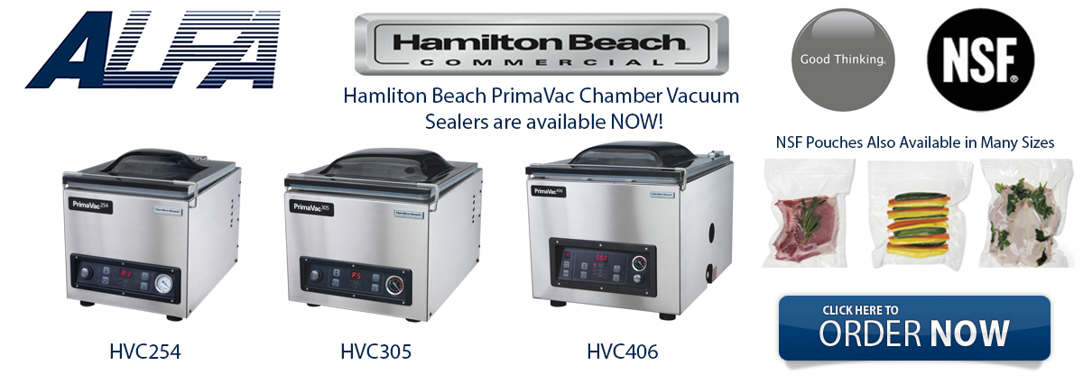 Hamilton Beach PrimaVac Vacuum Packaging Machines